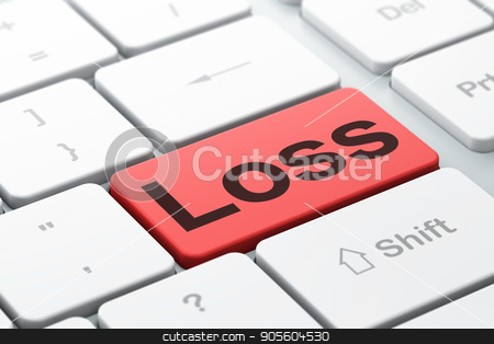Finance concept: Loss on computer keyboard background stock photo, Finance concept: computer keyboard with word Loss, selected focus on enter button background, 3D rendering by mkabakov
