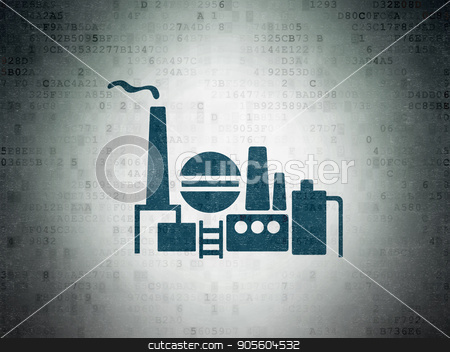 Finance concept: Oil And Gas Indusry on Digital Data Paper background stock photo, Finance concept: Painted blue Oil And Gas Indusry icon on Digital Data Paper background by mkabakov