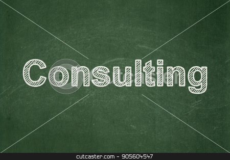 Business concept: Consulting on chalkboard background stock photo, Business concept: text Consulting on Green chalkboard background by mkabakov