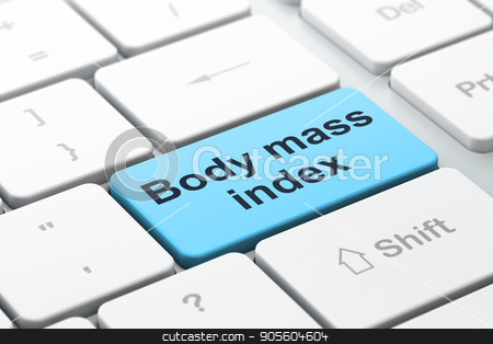Healthcare concept: Body Mass Index on computer keyboard background stock photo, Healthcare concept: computer keyboard with word Body Mass Index, selected focus on enter button background, 3D rendering by mkabakov