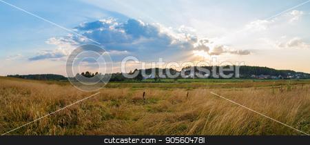Panoramic rural landscape stock photo, Panoramic shot. by Veresovich