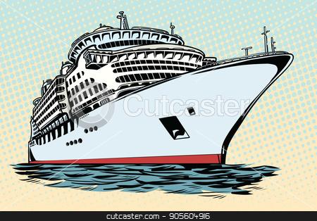 cruise ship vacation sea travel stock vector clipart, cruise ship vacation sea travel. Water transport. Pop art retro vector illustration by studiostoks