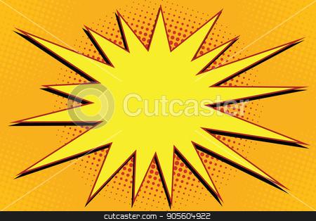 Pop art comic splash orange stock vector clipart, Pop art comic splash orange. retro vector illustration by studiostoks