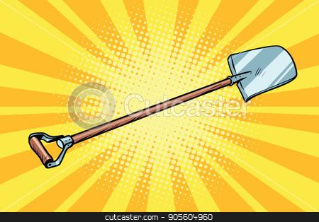 shovel garden tool stock vector clipart, shovel garden tool. Construction and agriculture. Pop art retro vector illustration by studiostoks