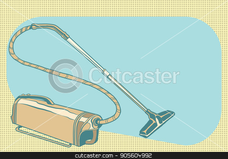 retro vacuum cleaner vintage illustration stock vector clipart, retro vacuum cleaner vintage illustration. Pop art retro vector by studiostoks