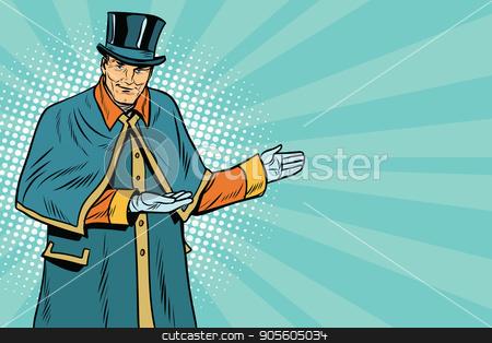 doorman welcomes guests stock vector clipart, doorman welcomes guests. Hotel and tourism. Pop art retro vector illustration by studiostoks