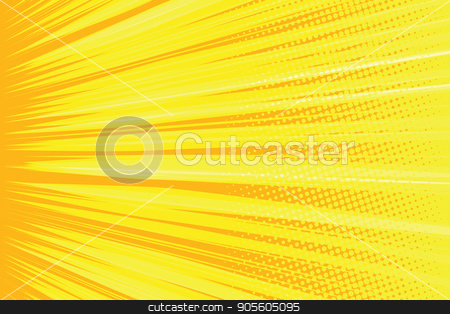 Orange rays pop art comic background stock vector clipart, Orange rays pop art comic background. retro vector illustration by studiostoks