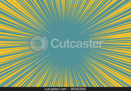 Blue yellow pop art background light from the center stock vector clipart, Blue yellow pop art background light from the center retro vector illustration by studiostoks