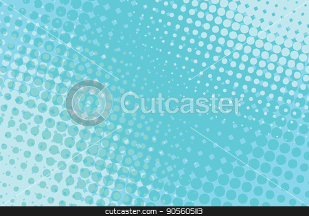 blue pop art halftone background stock vector clipart, blue pop art halftone background retro vector illustration by studiostoks