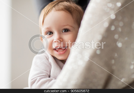 happy smiling little baby girl with mother stock photo, family, childhood and people concept - happy smiling little baby girl with mother by Syda Productions