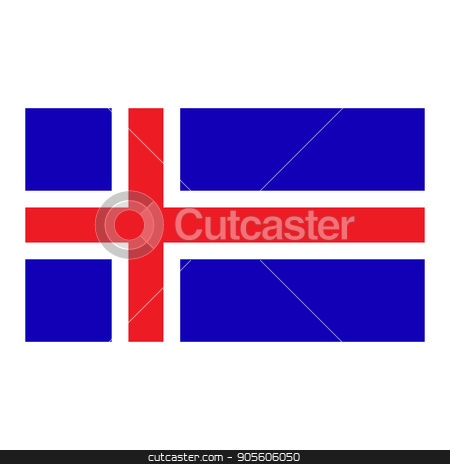 Flag of Iceland stock vector clipart, Iceland flag, official colors and proportion correctly. National Iceland flag. Flat vector illustration. EPS10 by Rokvel