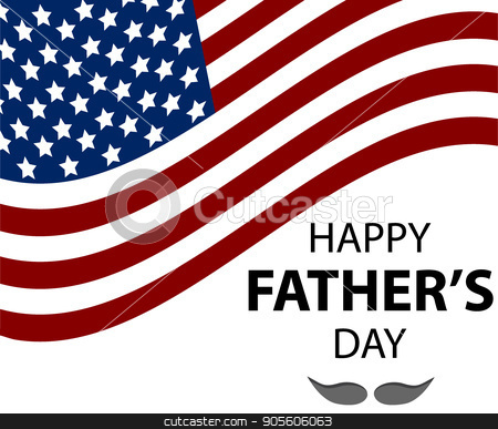 Happy fathers day Lettering stock vector clipart, Happy fathers day. Father s day word cloud concept in vector by Rokvel