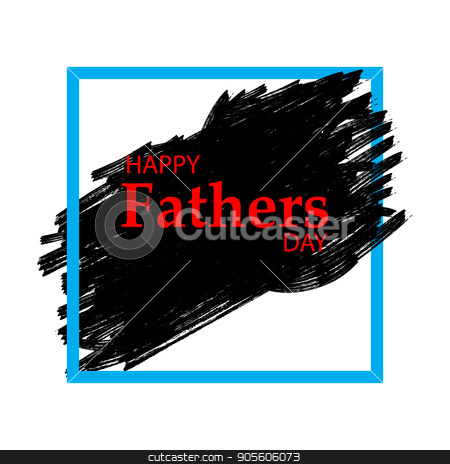 Happy fathers day Lettering stock vector clipart, Happy fathers day. Father's day word cloud concept in vector by Rokvel