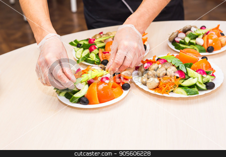 chef cooking food kitchen restaurant cutting cook hands hotel man male knife preparation fresh preparing concept - stock image stock photo, chef cooking food kitchen restaurant cutting cook hands hotel man male knife preparation fresh preparing concept - stock image by Satura86