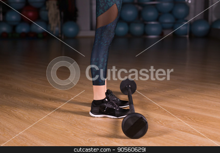Close-up of Fit girl exercising building muscles. Fitness and bodybuilding stock photo, Close-up of Fit girl exercising building muscles. Fitness and bodybuilding by Satura86
