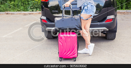 Vacation, travelling - woman ready for the travel for summer vacation stock photo, Vacation, Travel - woman ready for the travel for summer vacation by Satura86