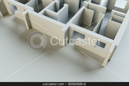Abstract white floor. Top view stock photo, Abstract white floor. Top view. 3d rendering by cherezoff