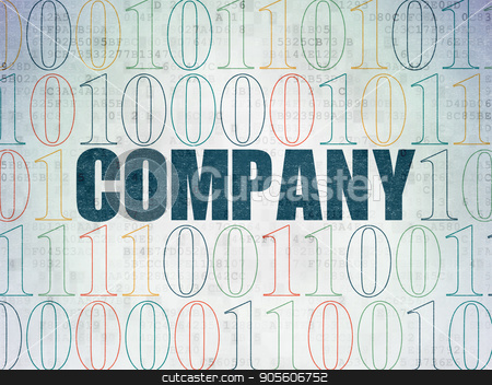 Finance concept: Company on Digital Data Paper background stock photo, Finance concept: Painted blue text Company on Digital Data Paper background with Binary Code by mkabakov