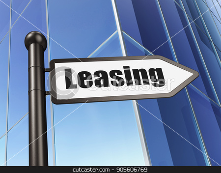 Business concept: sign Leasing on Building background stock photo, Business concept: sign Leasing on Building background, 3D rendering by mkabakov