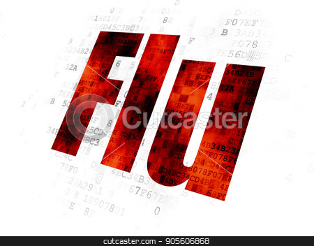 Health concept: Flu on Digital background stock photo, Health concept: Pixelated red text Flu on Digital background by mkabakov