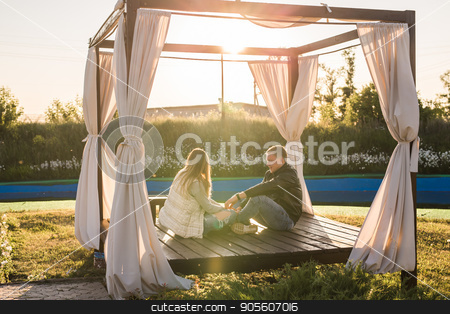 couple have fun in nature stock photo, couple hugging and have fun in nature outdoor by Satura86