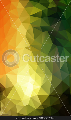 Abstract polygonal background stock vector clipart, Abstract polygonal background in green, yellow, blue shades. There is a variant in the vector by Liubov Nazarova