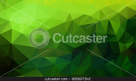 Abstract polygonal background stock vector clipart, Abstract polygonal background in green shades. There is a variant in the vector by Liubov Nazarova
