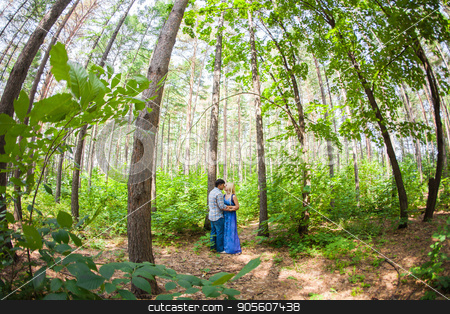 couple in love on summer nature stock photo, couple in love on summer nature outdoors by Satura86