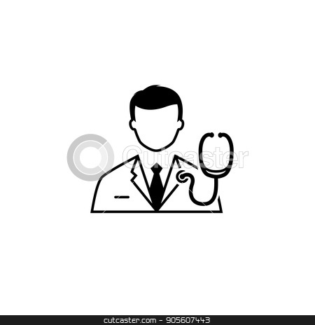 Doctor and Medical Services Icon. Flat Design. stock vector clipart, Doctor and Medical Services Icon. Flat Design. Isolated. by Vadym Nechyporenko
