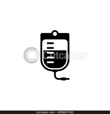 Blood Bag and Medical Services Icon. Flat Design. stock vector clipart, Blood Bag and Medical Services Icon. Flat Design. Isolated. by Vadym Nechyporenko