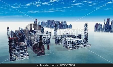 Armageddon in New York 3d render stock photo, Armageddon in New York 3d render by Dariusz Miszkiel