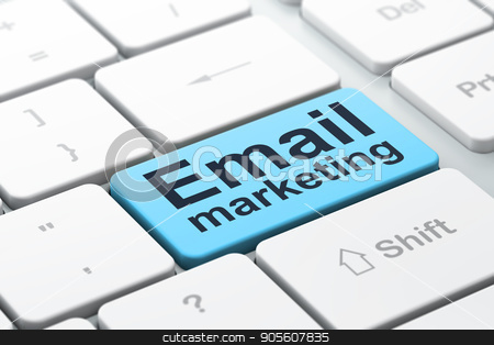 Advertising concept: Email Marketing on computer keyboard background stock photo, Advertising concept: computer keyboard with word Email Marketing, selected focus on enter button background, 3D rendering by mkabakov