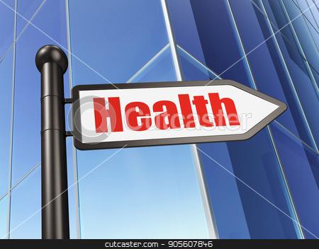 Medicine concept: sign Health on Building background stock photo, Medicine concept: sign Health on Building background, 3D rendering by mkabakov