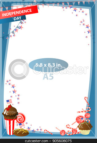 Concept of suspicion. Eggs with painted face. stock vector clipart, Frame. American day illustration. Independence Day. American flag. For the design. vector. Vertical orientation. Sweet caramel festival by Kseniia