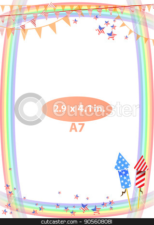 Concept of suspicion. Eggs with painted face. stock vector clipart, Frame. American day illustration. Independence Day. American flag. For the design. vector. Vertical orientation Fireworks - rockets by Kseniia