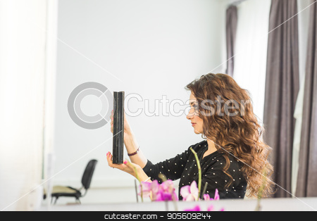 Beautiful woman with lush wavy hair stock photo, Beautiful woman with lush wavy hair. Beauty concept by Satura86