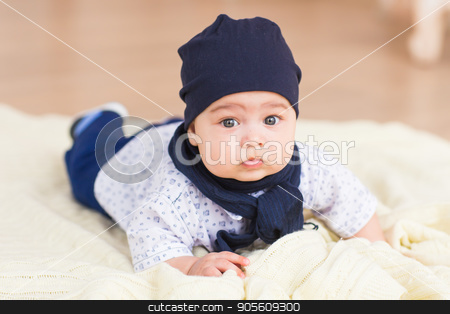 baby boy, 3 months old stock photo, baby boy, 3 months old. portrait of happy little baby boy smiling indoors by Satura86