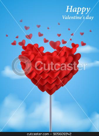 Valentines heart. Vector illustration stock vector clipart, card for Valentines day . Vector illustration EPS10 by Igor Samoilik