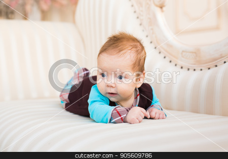 Portrait of a beautiful little baby. Close-up stock photo, Portrait of a beautiful little baby. Close-up by Satura86
