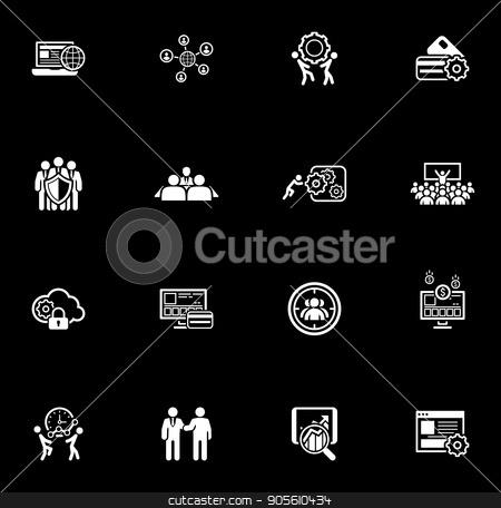 Flat Design Business Icons Set. stock vector clipart, Flat Design Icons Set. Business and Finance. Isolated Illustration. by Vadym Nechyporenko