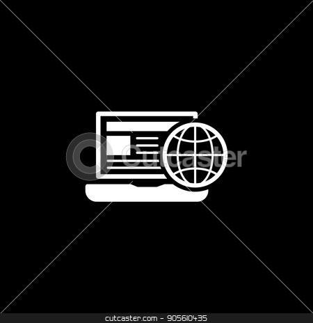 Global Business Icon. Flat Design. stock vector clipart, Global Business Icon. Business Concept. Flat Design. Isolated Illustration. by Vadym Nechyporenko