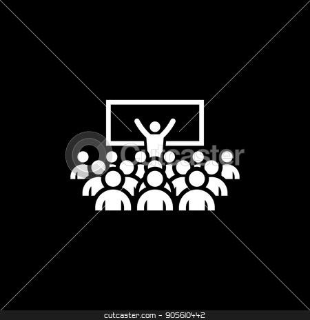 Coaching Icon. Business Concept. stock vector clipart, Coaching Icon. Business Concept. Flat Design. Isolated. by Vadym Nechyporenko