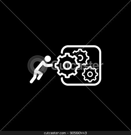 Integration of Innovation Icon. Flat Design. stock vector clipart, Integration of Innovation Icon. Flat Design. Business Concept. Isolated Illustration. by Vadym Nechyporenko