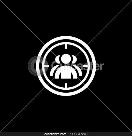 Targeting Icon. Flat Design. stock vector clipart, Targeting Icon. Flat Design. Business Concept. Isolated Illustration. by Vadym Nechyporenko