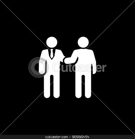 Handshake Icon. Business Concept. stock vector clipart, Handshake Icon. Flat Design. Business Concept. Isolated Illustration. by Vadym Nechyporenko