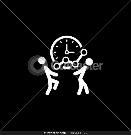 Time for Growth Icon. Business Concept. stock vector clipart, Time for Growth Icon. Flat Design. Business Concept. Isolated Illustration. by Vadym Nechyporenko