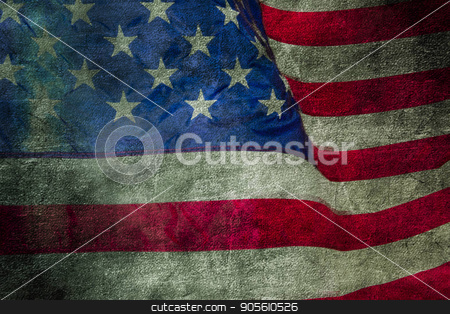 Closeup of grunge American flag stock photo, Closeup of grunge American flag. Vintage background by bvb1981