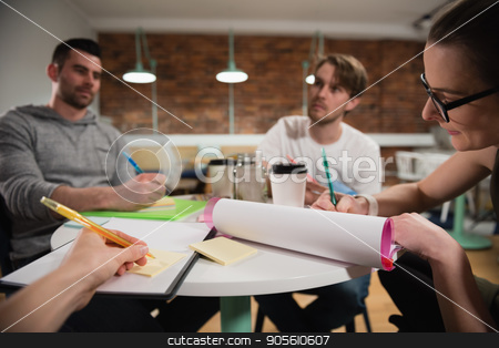 Executives working in office stock photo, Attentive executives working in office by Wavebreak Media