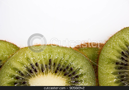Kiwi juicy green. Lobules threaded stock photo, Kiwi juicy green. Lobules threaded. on a white background. Photo for your design by Kseniia
