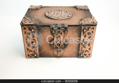 Business saving concept of finance. A treasure stock photo, Business saving concept of finance. A treasure chest closed on a white background. Photo for your by Kseniia